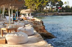 Babylon Beach Bar. The place to be in Santa Eulalia, Ibiza Spain