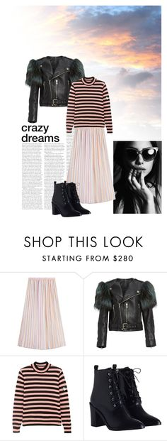 """""""Early morning dream"""" by goldencat ❤ liked on Polyvore featuring Marco de Vincenzo, Marc Jacobs, Shrimps, Zimmermann, Pink and stripes"""