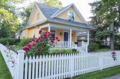 Would you paint your home yellow and blue?