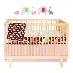 SKIP*HOP® Pink Elephant Complete Sheet™ 4-Piece Crib Bedding Collection - Bed Bath & Beyond