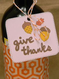Thanksgiving Hostess Gifts and Tags by Amy Cluck