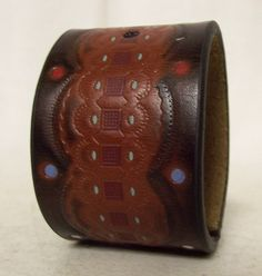 Upcycled Cuff Red White and Blue  Western by honeyblossomstudio