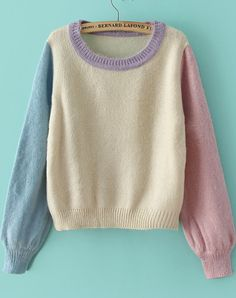 To find out about the Purple Long Sleeve Knit Crop Loose Sweater at SHEIN, part of our latest Sweaters ready to shop online today! Loose Sweater, Long Sleeve Sweater, Cropped Sweater Outfit, Jumper, Pretty Outfits, Cool Outfits, Diy Vetement, Vintage Sweaters, Pastel Sweaters