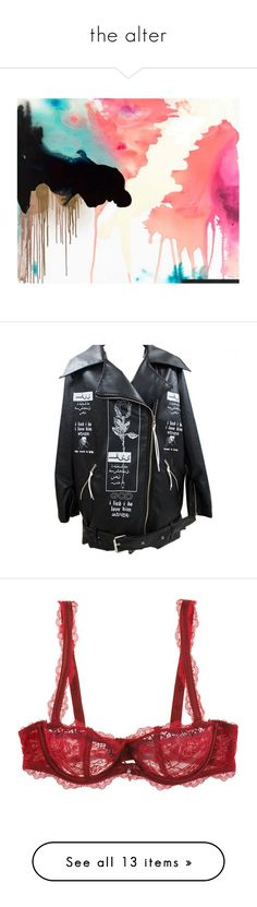 """""""the alter"""" by april-diamond ❤ liked on Polyvore featuring backgrounds, art, fillers, pictures, artwork, outerwear, jackets, tops, coats & jackets and leather jacket's"""