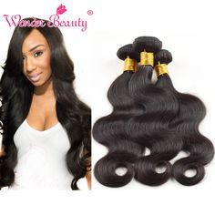 "7A Indian Virgin Hair Body Wave 3 Bundles 12""-26"" Indian Body Wave Cheap Human Hair Weave Wonder Beauty Hair Weft"