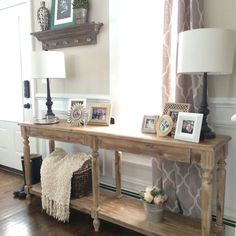 Entry way Everette Foyer table from World Market - natural wood entry table.