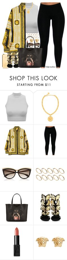 """""""Versace Vibez"""" by urban-stylefashion ❤ liked on Polyvore featuring Versace, Alexander McQueen, ASOS, Givenchy, Giuseppe Zanotti and NARS Cosmetics"""