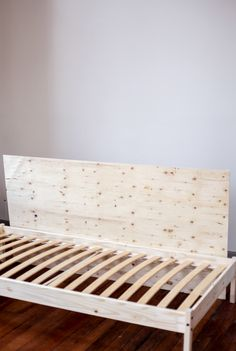 Make your own Ikea Couch in 5 Simple Steps // Ikea Hacks  We were so excited to try out this DIY Ikea Bed Hack! In just 5 simple steps you can create your own Ikea Couch out of an Ikea Bed.  We were looking all over, trying to find a couch for our studio, but we were on a tight budget so we figured.