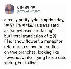 Spring Day is a beautiful song pls stream Btob, Vixx, Pretty Lyrics, Bts Tattoos, Korean Tattoos, Bts Theory, Bts Billboard, Bts Texts, Bts Lyric