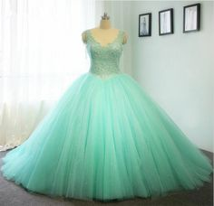 Nice Blue Princess Ball Gown Dress For Wedding