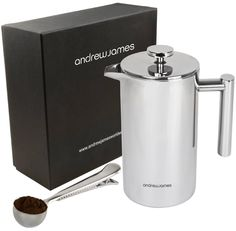 AWESOME Andrew James Stainless Steel Cafetiere