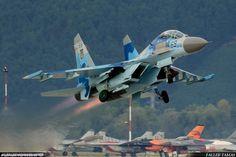 UAF - Ukrainian Air Force - Sukhoi Su-27 - Czech International Air Fest 2016 by Faller Tamas