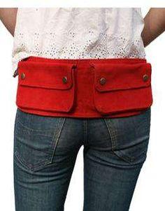 bag belt red
