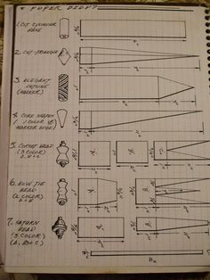 Basic Paper Beads (Instructions)Basic Paper Beads (Instructions): Image 1 of 3 - I never thought about making shaped beads.Basic Paper Beads (Instructions) Basic Paper Beads (Instructions): Image 1 of 3 - I never thought of making shaped beads. How To Make Paper, How To Make Beads, Make Paper Beads, Beading Tutorials, Beading Patterns, Paper Patterns, Canvas Patterns, Doll Patterns, Bead Crafts