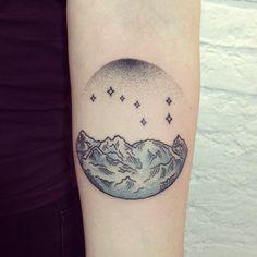 triangle landscape tattoo by koray karagozler http tattoos. Black Bedroom Furniture Sets. Home Design Ideas