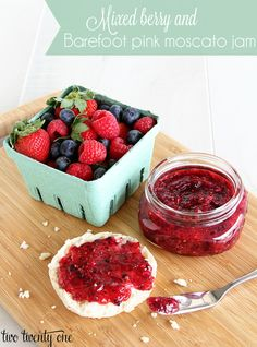 Mixed berry and Barefoot pink moscato jam-- ready in 1 hour!
