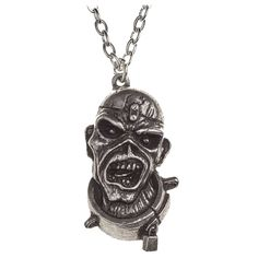 Iron Maiden Necklace Pendant Piece Of Mind Eddie Alchemy Silver - Paradiso Clothing