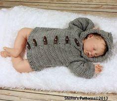 Crochet Pattern For Unisex Hooded Jacket 5 Sizes Crochet Pattern DIGITAL DOWNLOAD 206 on Etsy, $3.99