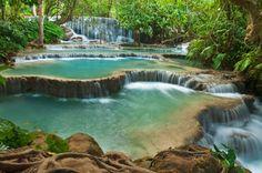 Водопады Тат Куанг Си, Луанг Прабанг, Лаос
