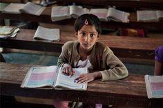 India child reading
