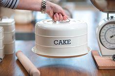 Living Nostalgia Boîte à gâteau avec cloche en métal Crème: Amazon.fr: Cuisine & Maison