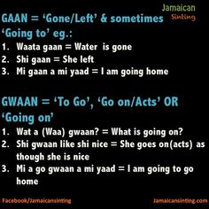 Patois ( when people ask you to talk Jamaican) Jamaican Phrases, Jamaican Words, Jamaican Slang, Jamaican Quotes, Jamaican Men, Jamaican Dishes, Jamaican Recipes, I Am Going Home, When You Love