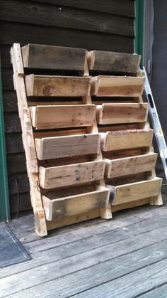 Tier Flower Pots Made From Pallets   -   #pallets