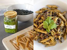 Black Bean Chipotle Pesto Pasta