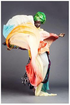 African fashion boasts a unique blend of brilliant colors