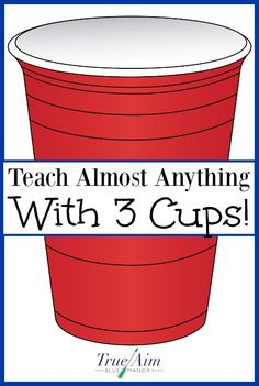 Teach your child anything with just 3 cups! - My kids love this! Montessori Homeschool, Homeschooling, Elementary Education, Childhood Education, Carnival Games For Kids, Shell Game, Toddler Fun, Card Games, Teaching Ideas