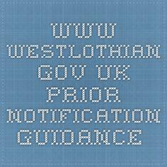 www.westlothian.gov.uk prior notification guidance