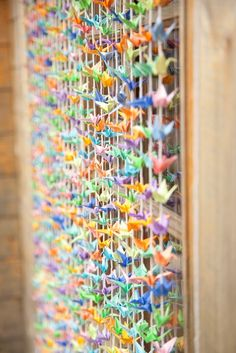 DIY Tutorial: 1000 paper cranes backdrop by Boho Bride Laura - Boho Weddings™