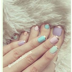 15 Cute Pastel Nail Designs Best New Simple Idea For Summer Home... ❤ liked on Polyvore featuring beauty products, nail care and nails