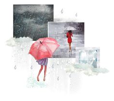 """""""Crazy summer storms"""" by jasna13 ❤ liked on Polyvore featuring art"""
