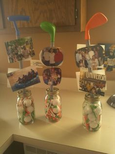 Golf themed birthday party centerpieces