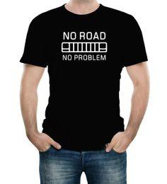 No Road No Problem Jeep Black Adult T-Shirt - Small Black