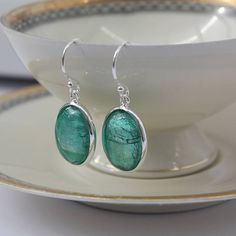 murano glass and silver oval earrings by claudette worters | notonthehighstreet.com