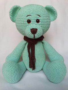 Confira aqui - Urso Amigurumi Brian - AtinaReisHandmade