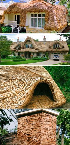 Steam-bending wood cedar shingle roofs