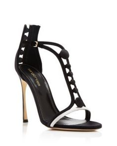 Sergio Rossi Tuxedo T-Strap High Heel Sandals | Bloomingdale's