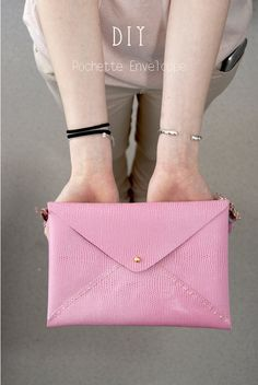 DIY pochette enveloppe | Envelope bag - Dans mon bocal