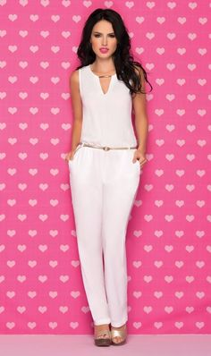 pantalones en chalis estampados - Buscar con Google White Pants, Casual Outfits, Jumpsuit, Sewing Projects, Google, Dresses, Fashion, Fashion Trends, Vestidos