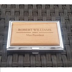 A personal favorite from my Etsy shop https://www.etsy.com/listing/260473363/business-card-holder-business-card-case