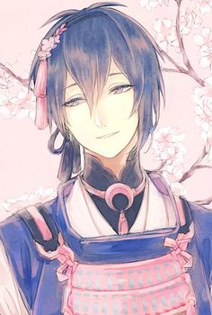 He reminds me of an anime character I created Boys Anime, Cute Anime Boy, Hot Anime Guys, Manga Boy, Anime Love, Manga Anime, Anime Art, Anime Style, Touken Ranbu Mikazuki
