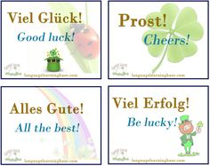 """Ways to say """"Good Luck"""" in German - learn German,german,communication,vocabulary,luck,ways"""
