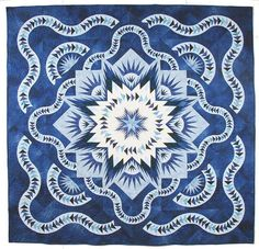 Glacier Star, Quiltworx.com, Peiced by guild members, Quilted by Carrie Barone