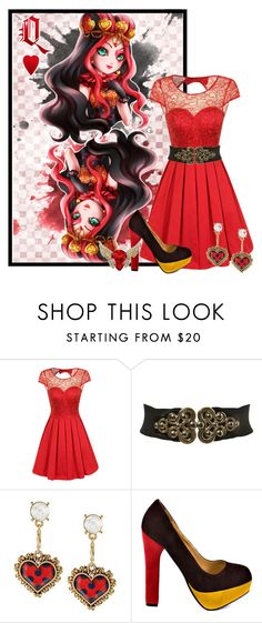 """""""Lizzie Hearts"""" by bluetidegirl ❤ liked on Polyvore featuring CHI, Miss…"""