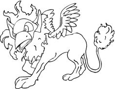 winged lion coloring page from greek mythology category select from 20903 printable crafts of cartoons
