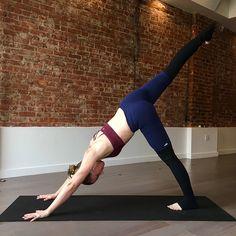 The pose: Three-Legged Dog http://www.womenshealthmag.com/fitness/yoga-poses-for-abs/slide/3
