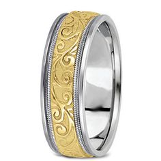 Engagement & Wedding Titanium Ridged Edge 6mm Brushed Wedding Ring Band Size 14.50 Classic Flat